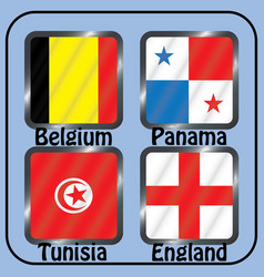 Football championship flags group g vector