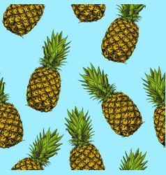 fruit pineapple seamless texture wallpaper vector image