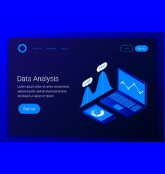 futuristic business analytics concept vector image