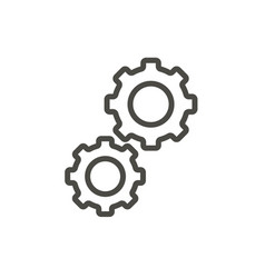 gear icon outline progress line gear symb vector image