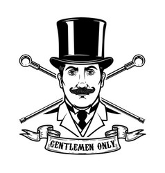gentlemen club emblem template design element vector image