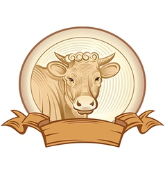graphical heifer vector image