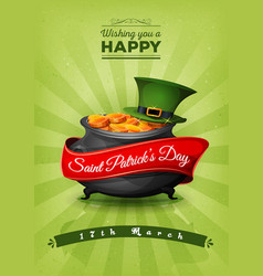 Happy st patricks day retro postcard vector