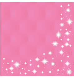 Happy Valentines Day Greeting Card on pink backg vector image