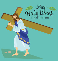 holy week good friday crucifixion jesus and vector image