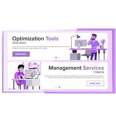 horizontal banners website design business vector image