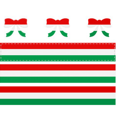 Hungarian flag on ribbon and bow vector