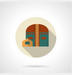 industrial hangar flat color icon vector image