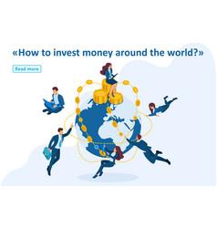 isometric international investment company vector image