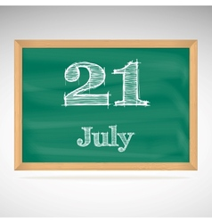 July 21 day calendar school board date vector