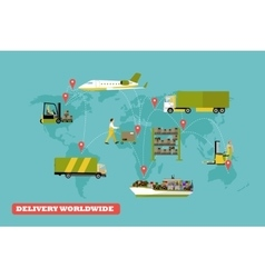 Logistic and delivery concept vector