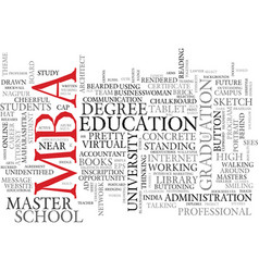 Mba word cloud concept vector