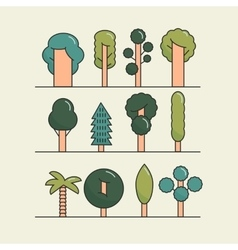 Modern flat trees set tree icons set tree vector