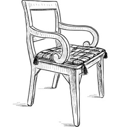 Old rustic chair vector