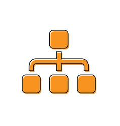 Orange business hierarchy organogram chart vector