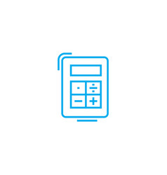 ordinary calculator linear icon concept ordinary vector image