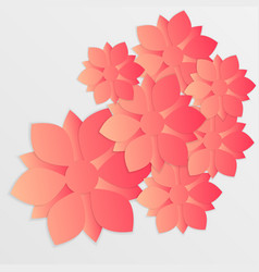 paper flower origami9 vector image