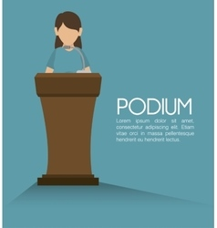 podium speech icon vector image