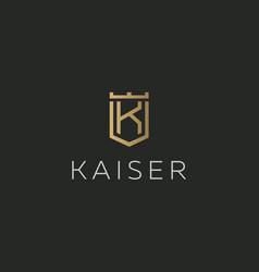 premium monogram letter k initials logotype vector image