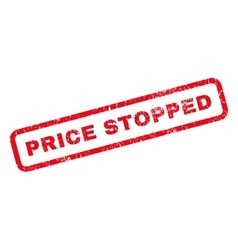 Price Stopped Rubber Stamp vector image