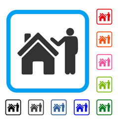 Realty buyer framed icon vector