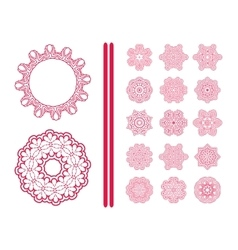 Red Christmas snowflakes vector image