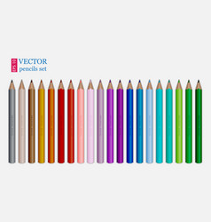 set of coloured pencils on white vector image