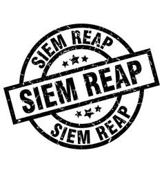 Siem reap black round grunge stamp vector
