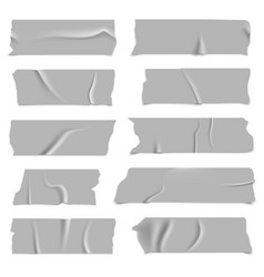 silver adhesive tapes gray metallic colored vector image