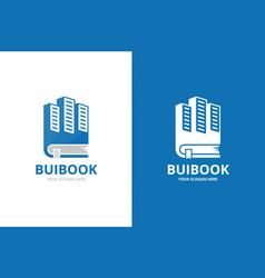 Skyscraper and book logo combination unique real vector