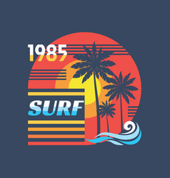 surf - concept in vintage vector image