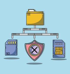 system data center information server vector image