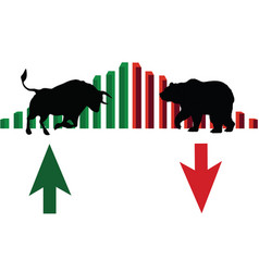 Trade market bulls against bears vector