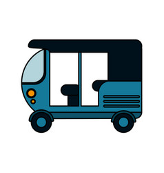 tuk tuk or rickshaw icon image vector image