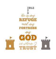 Typographic from psalm vector