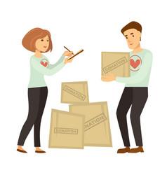 volunteer work or volunteering people vector image