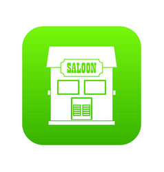 Western saloon icon digital green vector