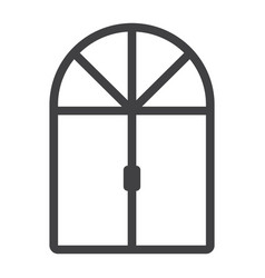 Window line icon furniture and interior vector