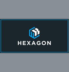 Wk hexagon logo design inspiration vector