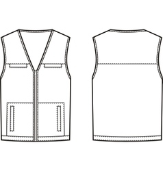 Work vest Front and back vector