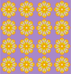 Yellow amber flowers on lilac backdrop vector image