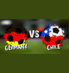 banner football match germany vs chile vector image