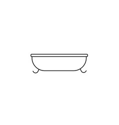bath line icon on white background vector image vector image