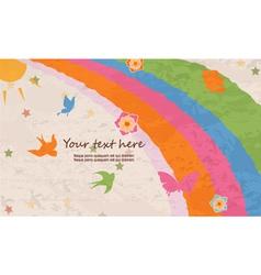 Butterflies with rainbow vector