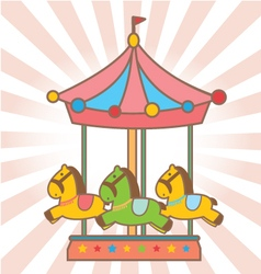 cute carousel vector image vector image