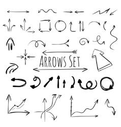 Hand drawn arrows set vector image vector image