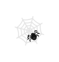 isolated spider flat icon spinner element vector image vector image
