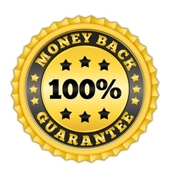 Money Back Guarantee Golden Label vector image