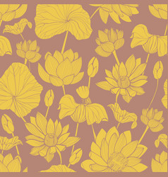 botanical seamless pattern with beautiful yellow vector image vector image