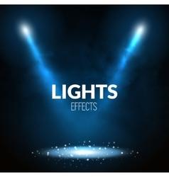 Floodlights spotlights illuminates scene with vector image vector image